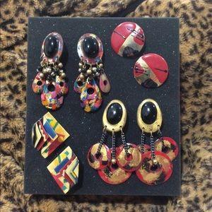 Bundle Vintage Retro Earrings